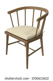 Patio Dining Chair 3D illustration on white background