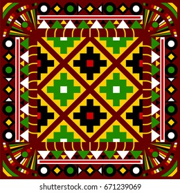 Patola patterns, Patola (Double Ikat) from the area of Patan in the North Gujarat region of western India