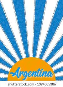 Patriotic background with Argentine cockade.