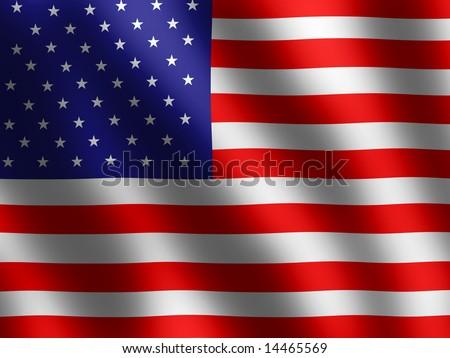patriotic symbols shiny american flag banner stock illustration