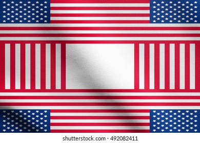 42d6d72d909 Patriotic USA design in style of the American flag with detailed fabric  texture. Holiday background