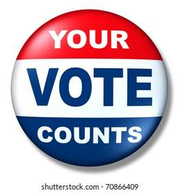 patriotic vote button badge election politics symbol