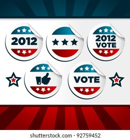 Patriotic Voting Stickers.
