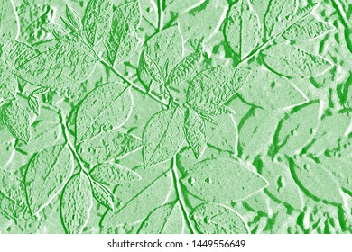 Pattern of abstract leaves,embossed leaves