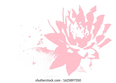 Pattern of abstract lotus,embossed lotus with space for text can be use for useful background