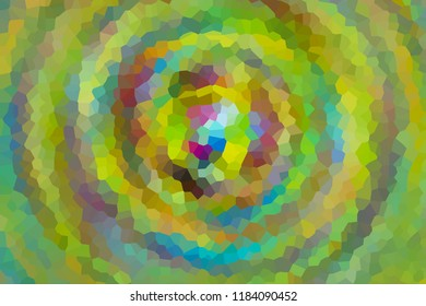 pattern beautiful gradient green yellow lilac snow daimond mosaic background motion whirlpool depth tonal many shards