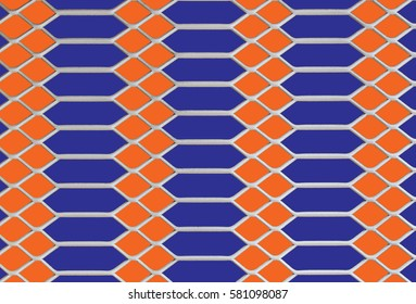 pattern in blue and orange