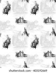 Pattern with castles.