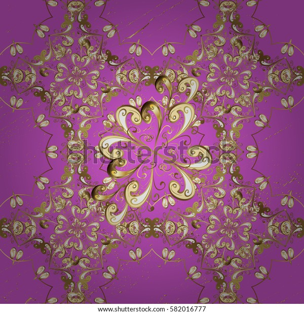 Pattern floral pattern. Graphic modern pattern. Wallpaper baroque, damask. Background.
