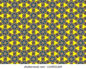 Pattern of hand Drawing in children style for background usage