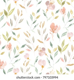 pattern of herbs and flowers for high-resolution printing
