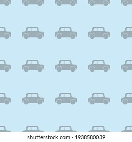 Pattern with house on a blue background