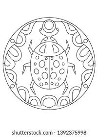 pattern ladybug illustration beetle mandala 260nw