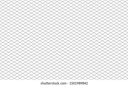 Pattern Line background on white paper, 30 degree straight line intersects a diamond square
