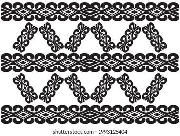 pattern motif traditional murut culture