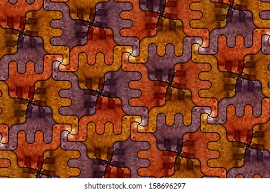 Pattern with stylized camels in three colors