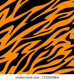 pattern texture tiger orange color stripe repeated seamless black for background