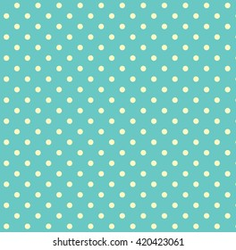 Pattern With White Polka Dots On A Sweet Pastel Green Background For Web Design