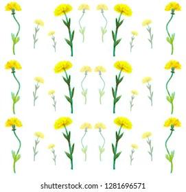 pattern of yellow dandelions