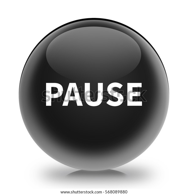 pause button isolated. 3D illustration