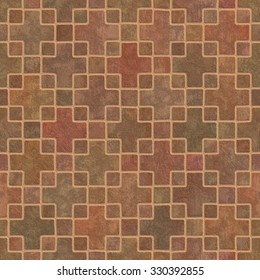 Pavement  Tileable Background Texture. Road and floor paving seamless and tileable texture. Footway and sidewalk sett and tile geometric patterns.