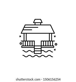 Pavilion Hawaii hut icon. Element of Hawaii icon