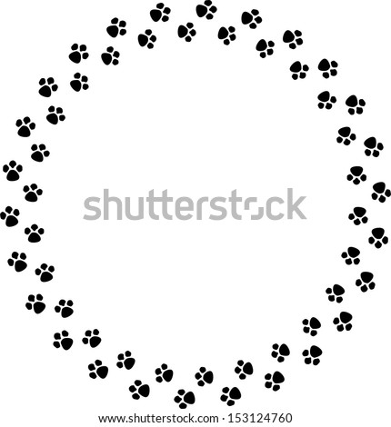 Paw Prints FRAME SHAPE Stock Illustration 153124760 - Shutterstock