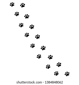 Paw prints icon in flat style. Footprints animals symbol for your web site design, logo, app, UI  illustration