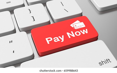 Pay now. 3d illustration