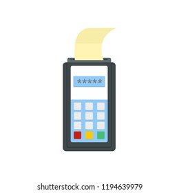 Payment by credit card icon. Flat illustration of payment by credit card icon for web design
