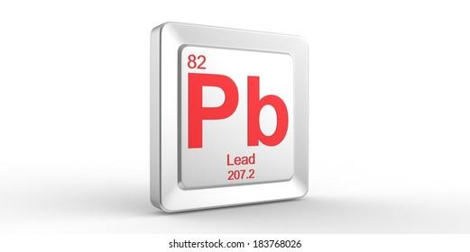 Pb Symbol 82 Material Lead Chemical Stock Illustration 183768026