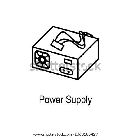 PC Power Supply Icon Element Computer Stock Illustration 1068185429 ...