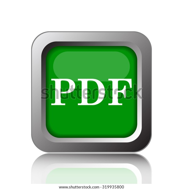 PDF icon. Internet button on  background.