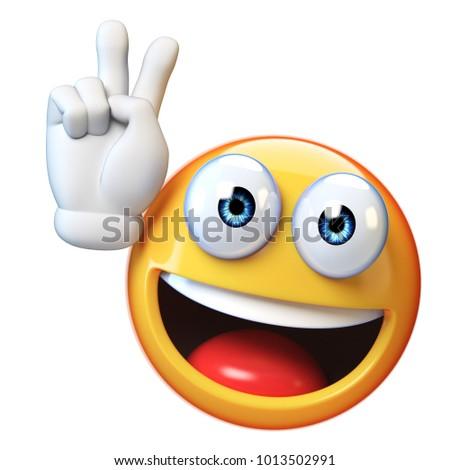 Peace Emoji Isolated On White Background Stock Illustration