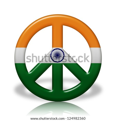 Peace Sign Symbol 3 D Flag Colors Stock Illustration 124982360