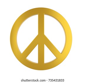 Peace Symbol Isolated. 3D rendering
