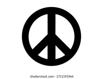 peace symbol white background illustration