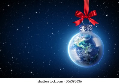 Peaceful Christmas All Over The World - Usa elements of this image furnished by NASA