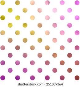 Peach Pink Gold Purple White Polka Dot Pattern Swiss Dots Texture Digital Paper Background