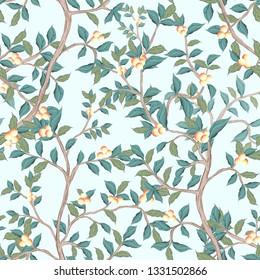 peach tree seamless pattern for fabrics, paper, wallpaper