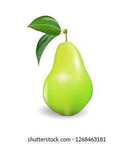 Pear realistic.  . Green pear, punching bag, punching ball, punchbag, punchball. 3d illustrattion