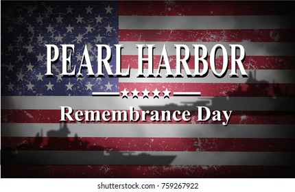 Pearl Harbor Remembrance, background with ships