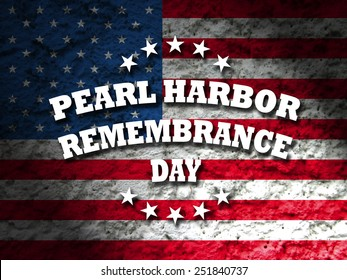 pearl harbor remembrance day greeting card american flag grunge background