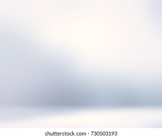 Pearl room empty background. Light wall and floor blurred texture. White abstract defocused background. Interior soft backgrounds. 3d illustration room decor.
