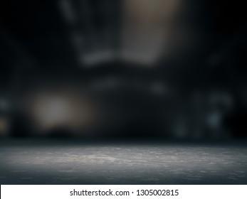 Pedestal for display,Platform for design,Blank product stand,background blurred .3D rendering