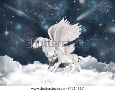 caec45f34002 Pegasus Family Stock Illustration 94214557 - Shutterstock. Pegasus family