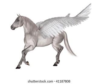 Pegasus the Flying Winged Horse of Greek Mythology