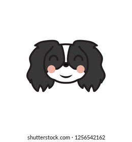 pekingese, emoji, blush multicolored icon. Signs and symbols icon can be used for web, logo, mobile app, UI, UX