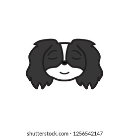 pekingese, emoji, relieved multicolored icon. Signs and symbols icon can be used for web, logo, mobile app, UI, UX