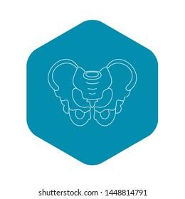 Pelvis icon. Outline illustration of pelvis icon for web